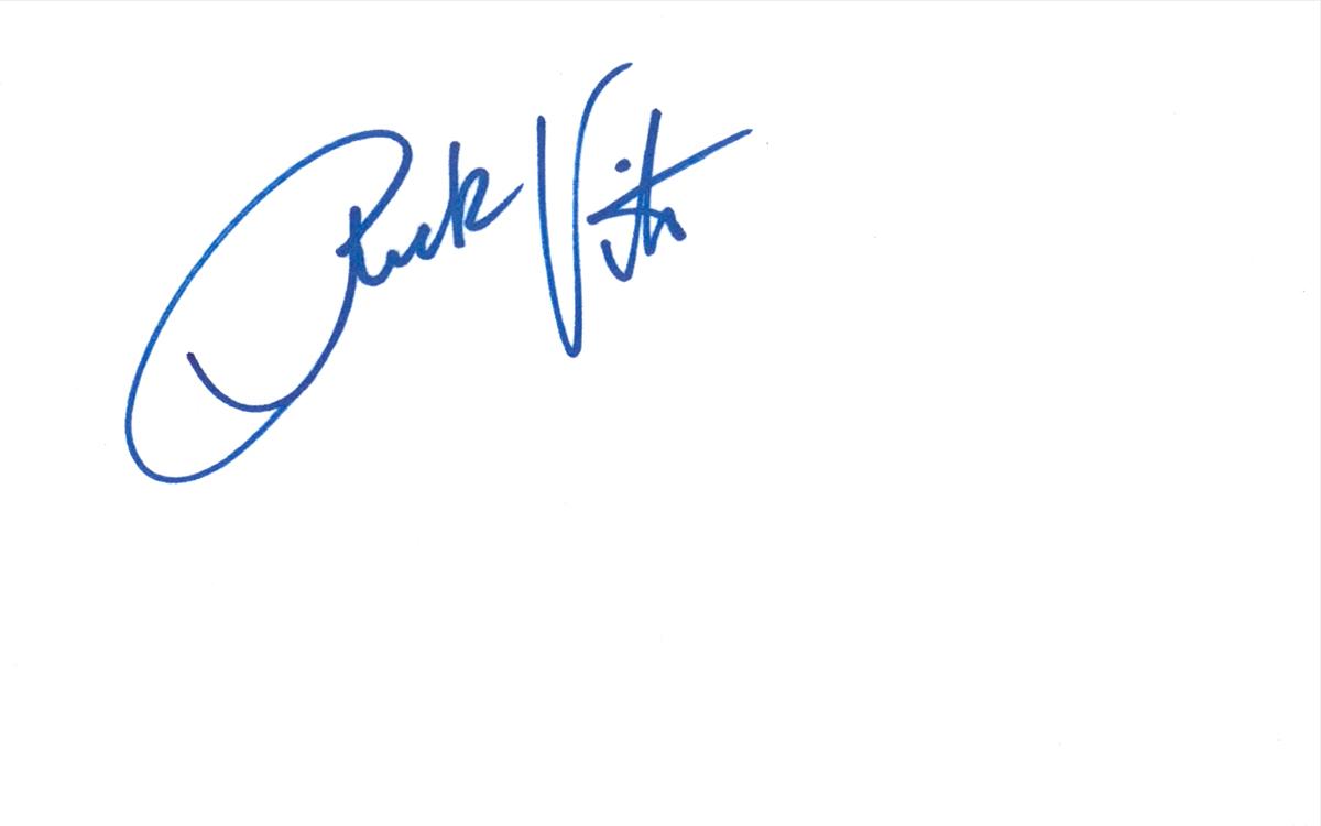 Rick Vito Index Card #1