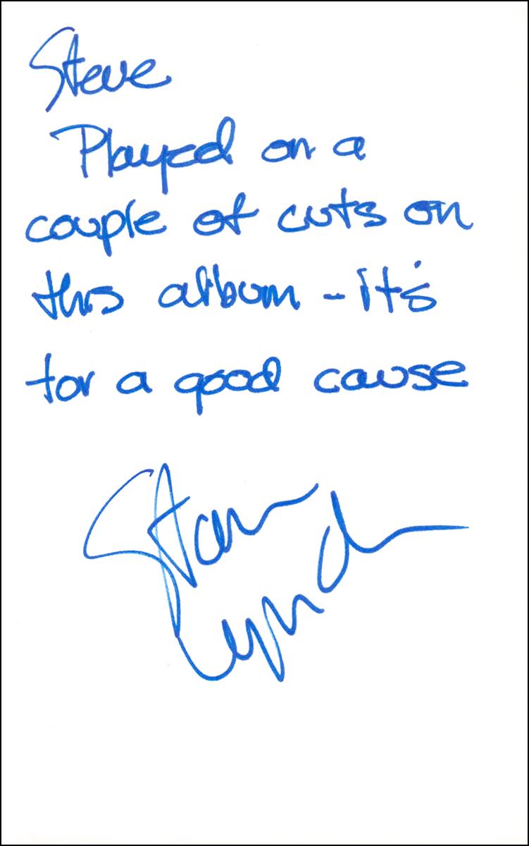 Stan Lynch - Index Card #1