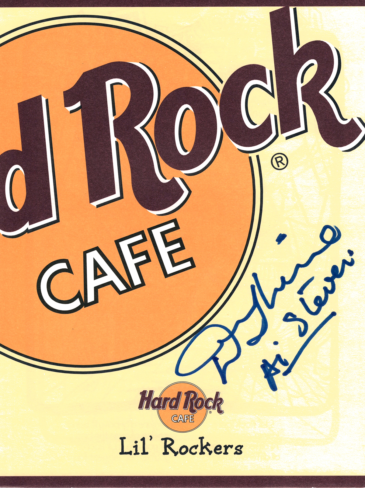 Hard Rock Cafe Menu - Denny Laine
