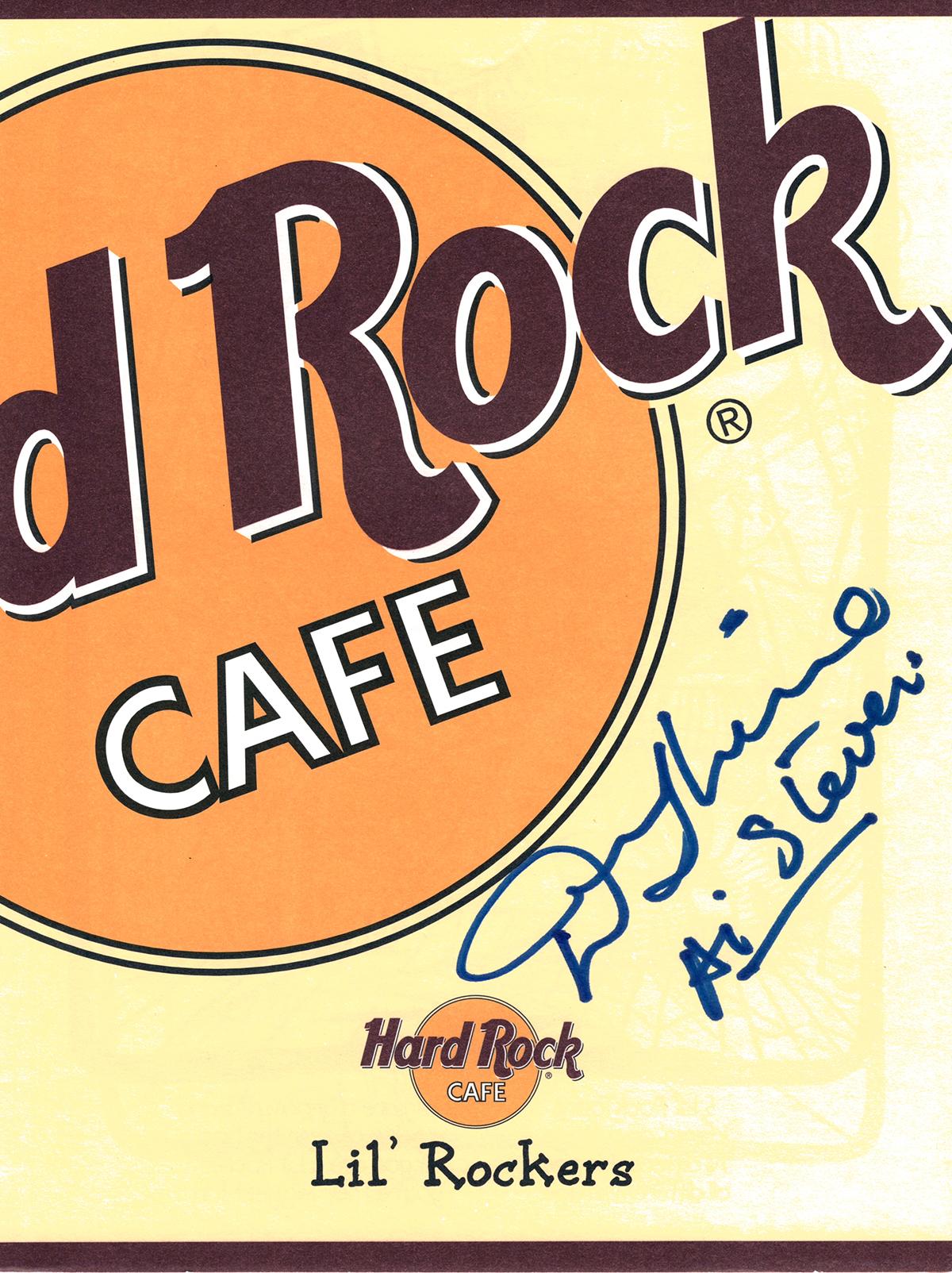 Hard Rock Cafe Menu - Denny Laine