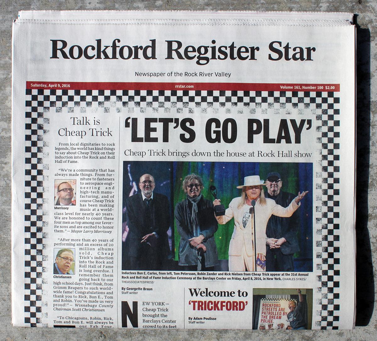 Rockford Register Star Newspaper