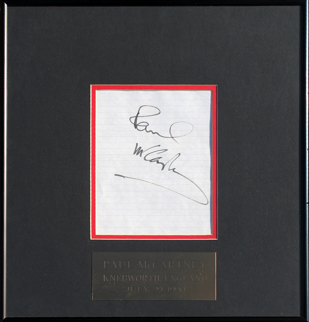 Framed Autograph - Paul McCartney