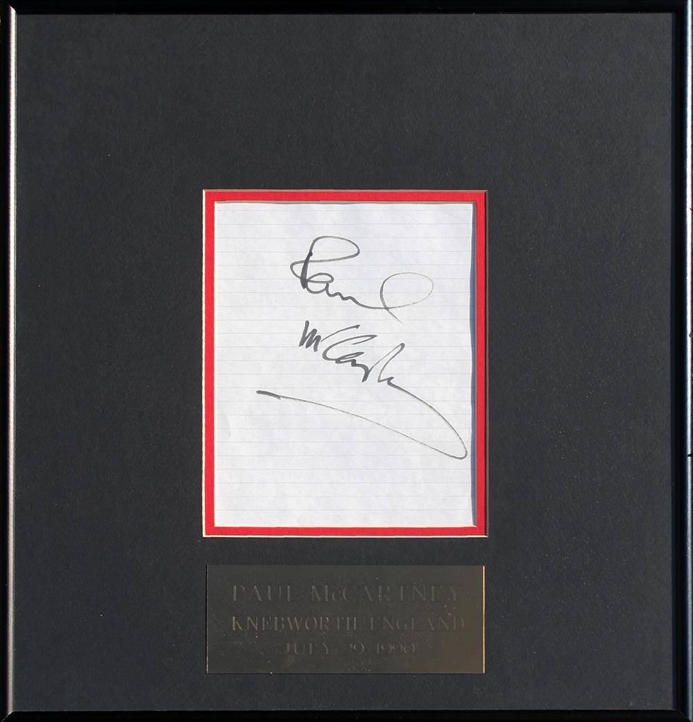Framed Autograph - Paul McCartney