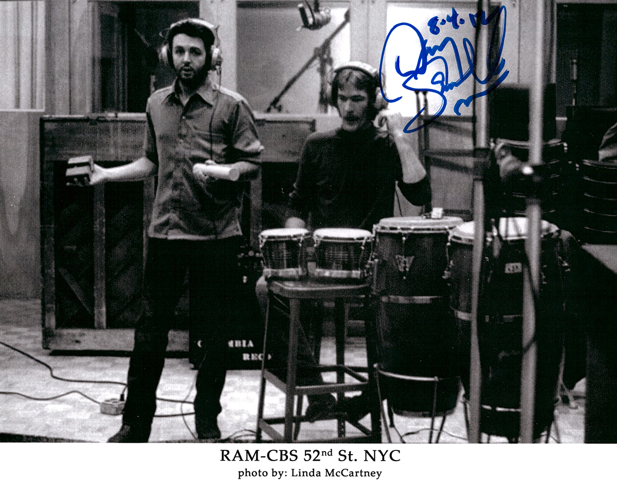 Photo - Paul McCartney and Denny Seiwell