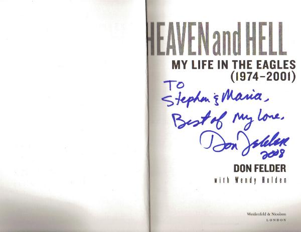 Signed Heaven and Hell - Both Sides - Don Felder
