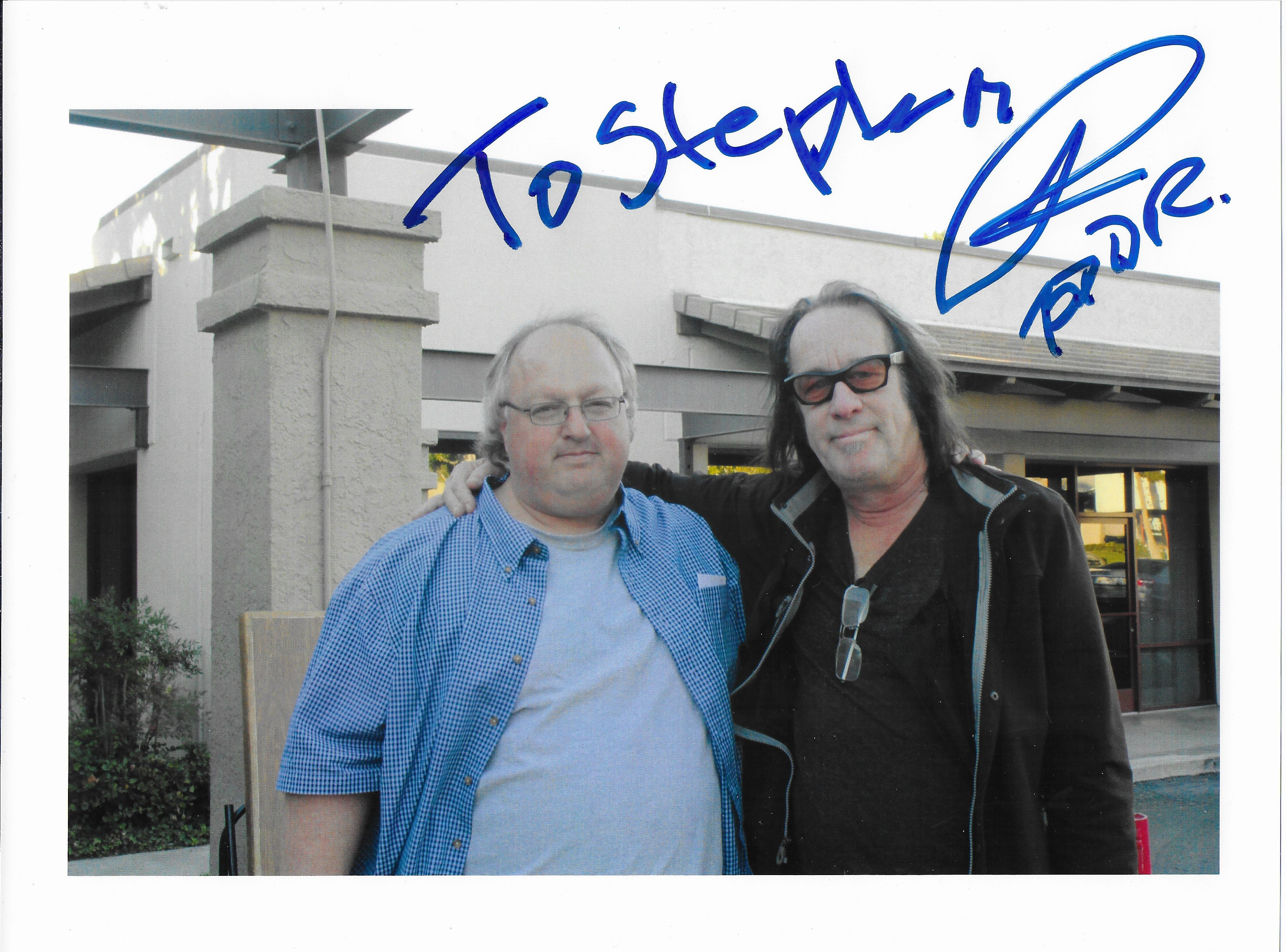 Photo - Stephen Duncan and Todd Rundgren