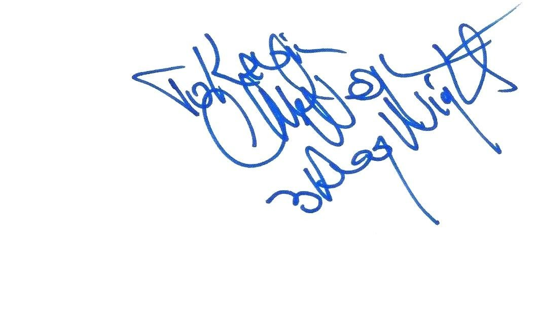Chuck Negron Signed Index Card