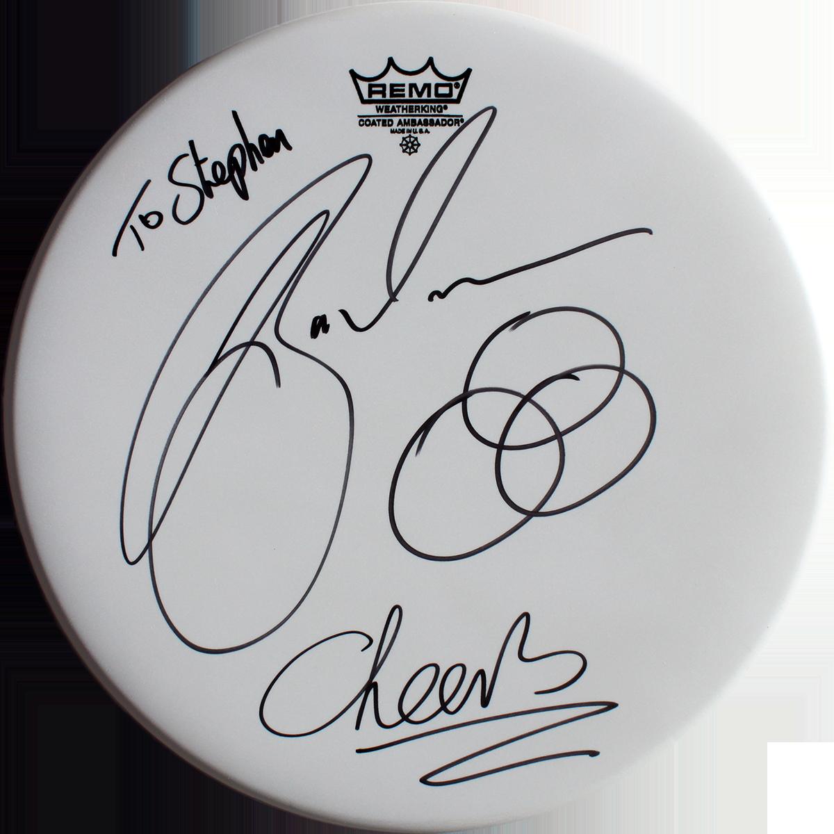 Jason Bonham Signed Drumhead
