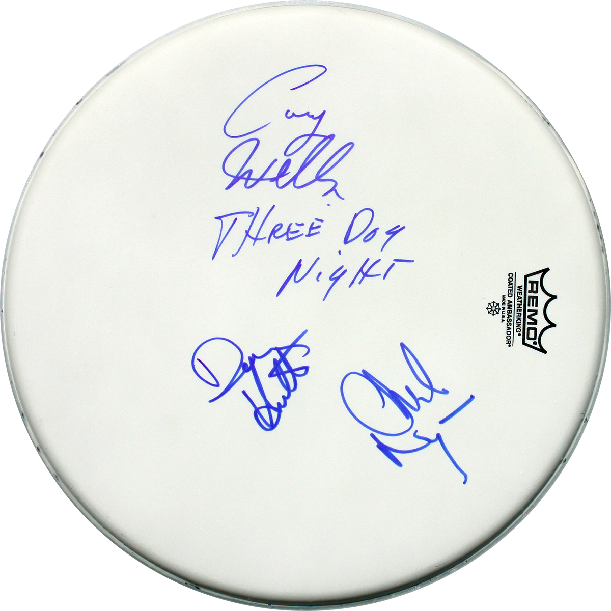 Three Dog Night Signed Drum Head